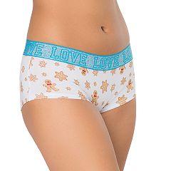Juniors' SO® 'Love' Graphic Boyshort Panty