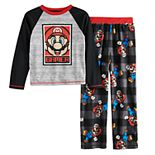 Boys 4-12 Super Mario 2-Piece Pajama Set