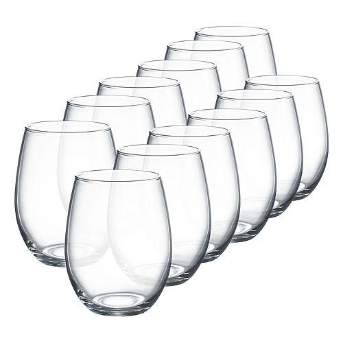 Luminarc Cachet 12-pc. Stemless Wine Glass Set