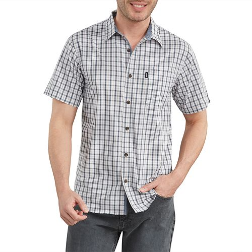 Men's Dickies X-Series Yarn-Dyed Plaid Button-Down Shirt