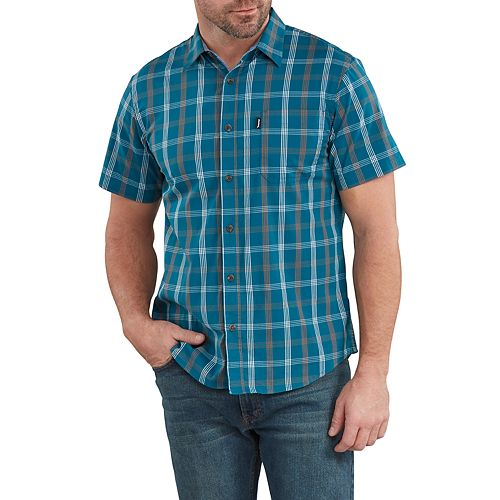 Men's Dickies X-Series Yarn-Dyed Plaid Button-Down Shirt