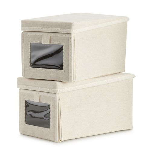 SONOMA Goods for Life® 2-Pack Stackable Shoe Boxes