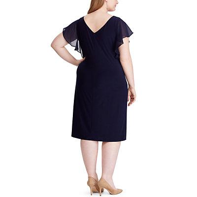 Plus Size Chaps Flutter Sleeve Dress