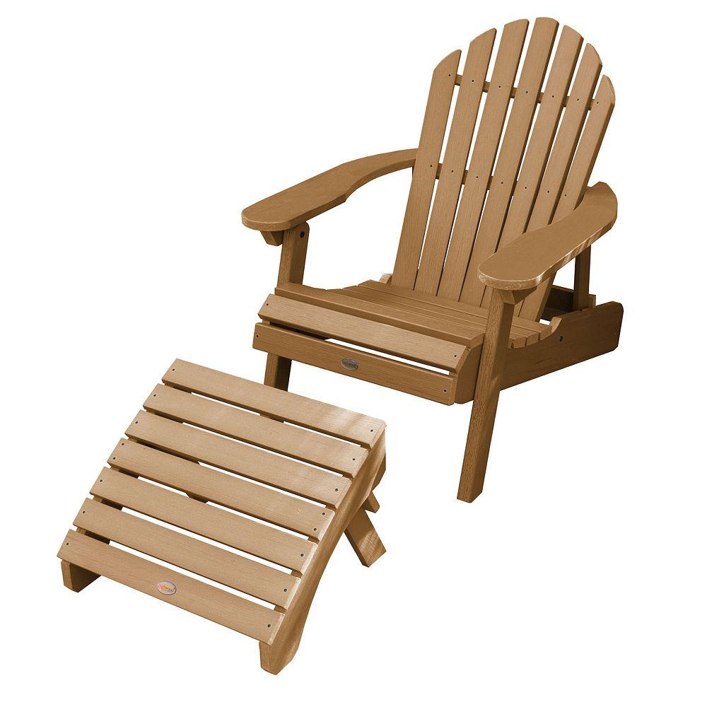 highwood Hamilton Folding & Reclining Adirondack Chair with Ottoman