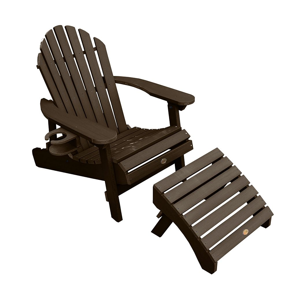 highwood Hamilton Folding & Reclining Adirondack Chair with Laptop/Reading Table