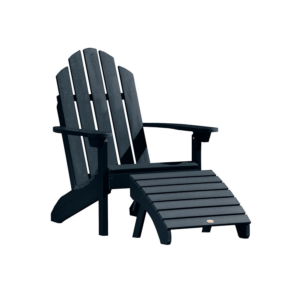 highwood Classic Westport Adirondack Chair with Ottoman