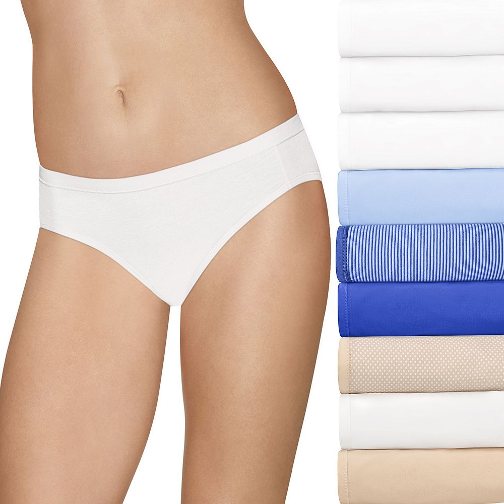 Women's Hanes Ultimate Comfort Stretch 9-Pack Bikini Panties 42KSP9