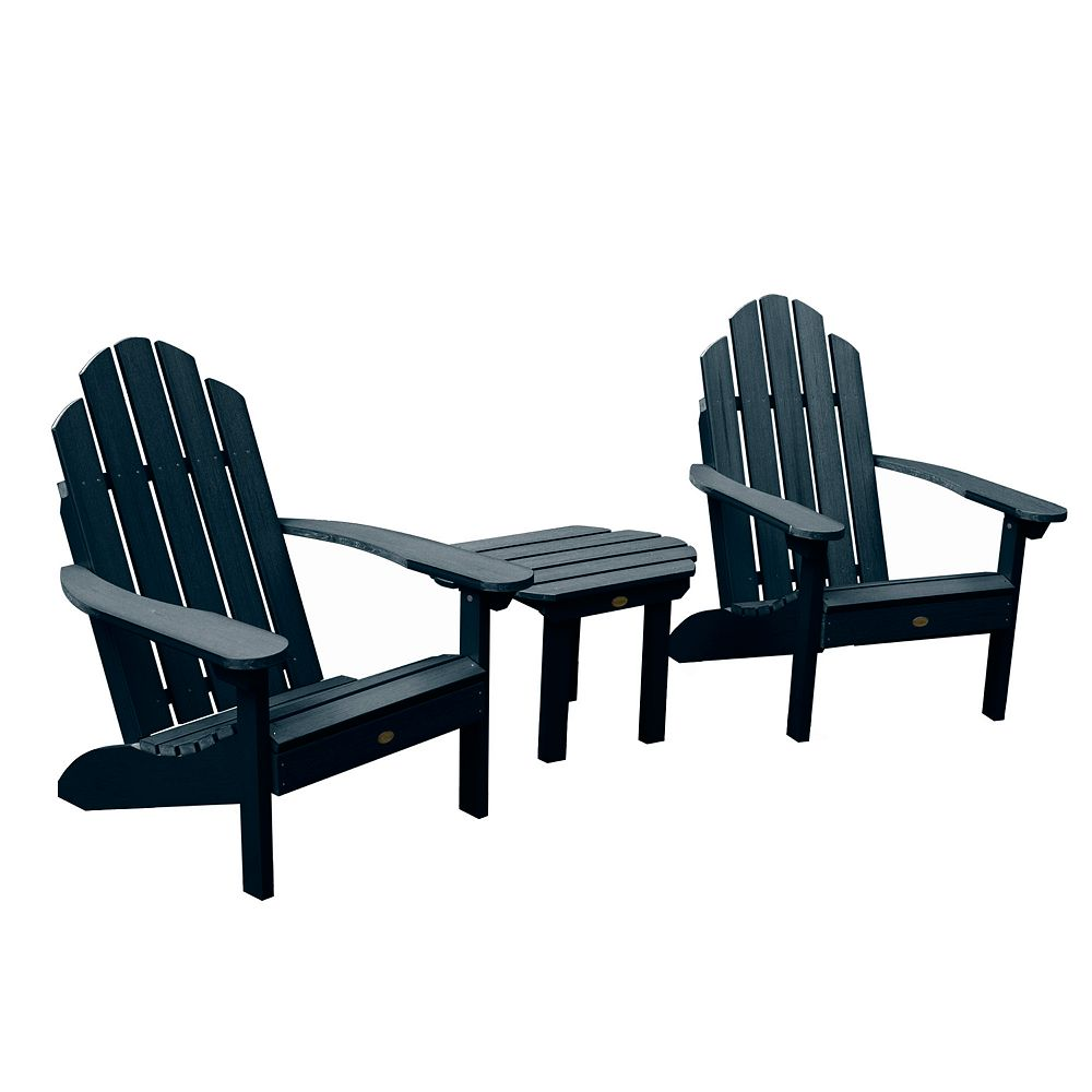Highwood Westport Adirondack Chairs with Side Table