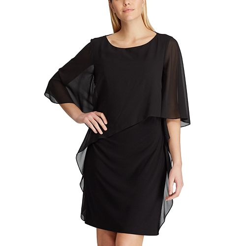 Women's Chaps Chiffon-Overlay Shift Dress