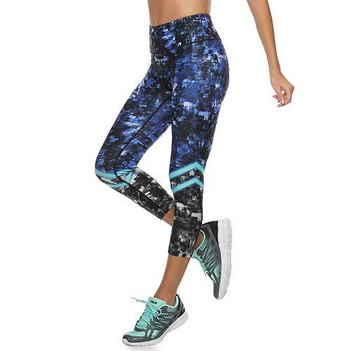 be1f36d0e260cb Women's FILA SPORT® Printed High-Waisted Capri Leggings