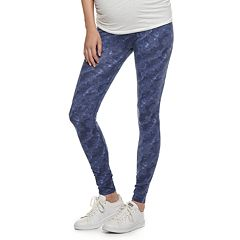d8f4f7155e9 Maternity a glow Belly Panel Solid Leggings