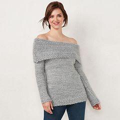 Women's LC Lauren Conrad Off-the-Shoulder Sweater