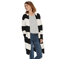 Women's POPSUGAR Striped Hood Coatigan