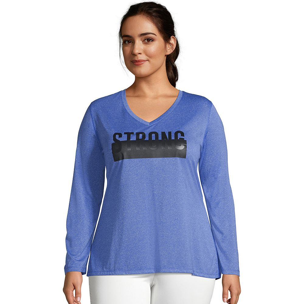 Plus Size Just My Size Graphic Cool Dri Performance Top