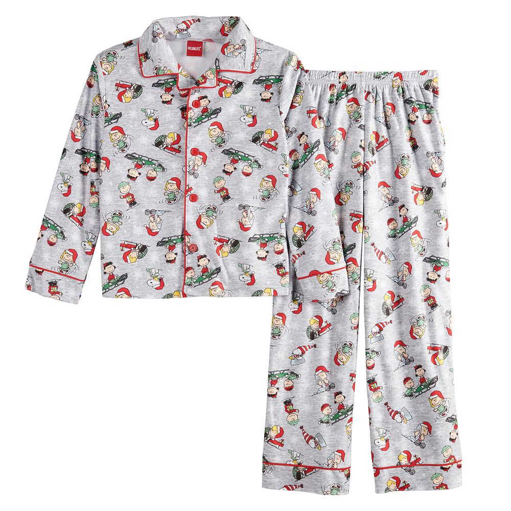 Boys 4-16 Peanuts Cast Holiday Pajama Set