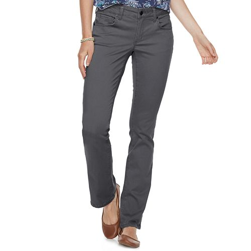 Petite SONOMA Goods for Life® Midrise Sateen Bootcut Pants