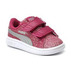 PUMA Smash V2 Glitz Glam Preschool Girls' Water Resistant Sneakers