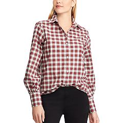 Women's Chaps Plaid No-Iron Broadcloth Shirt