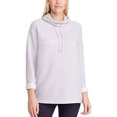 Women's Chaps Drawstring Cowlneck Tee