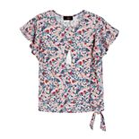 Girls 7-16 IZ Amy Byer Knot Hem Flutter Sleeve Top