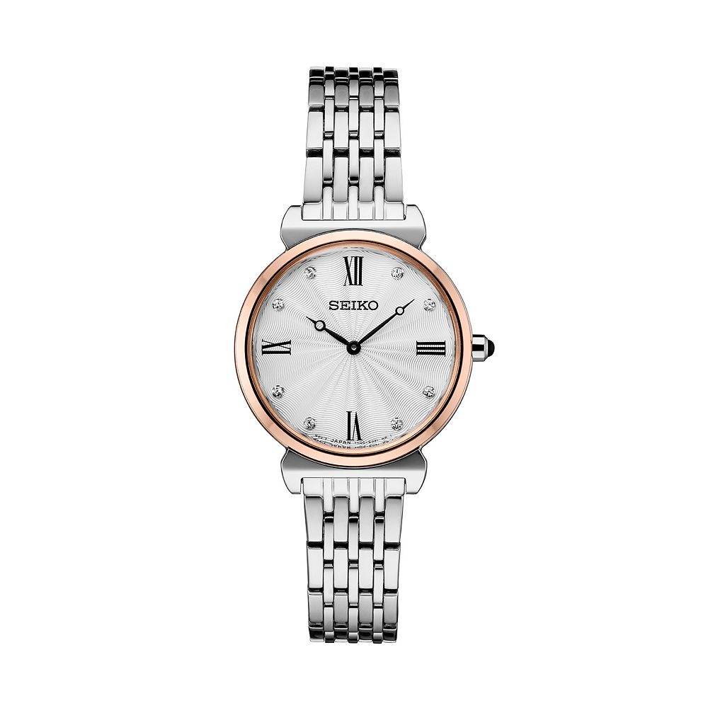 Seiko Women's Crystal Accent Two Tone Stainless Steel Watch - SFQ798