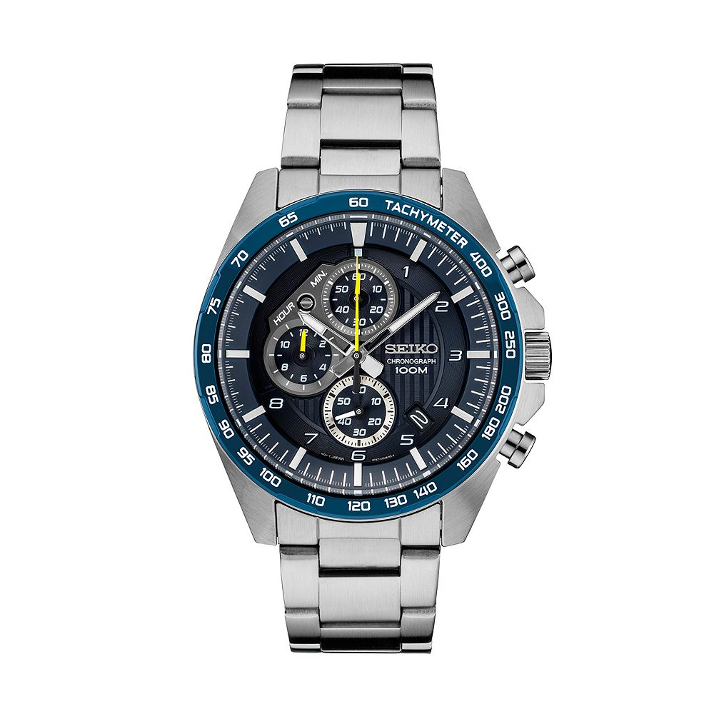 Seiko Men's Essential Stainless Steel Chronograph Watch - SSB321