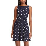 Women's Chaps Pleated Fit & Flare Dress