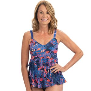 Plus Size Dolfin Aquashape Tiered One-Piece Swimsuit