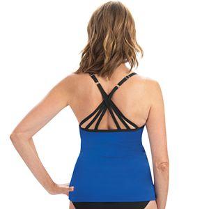 Women's Dolfin Aquashape Solid Crossback Tankini Top