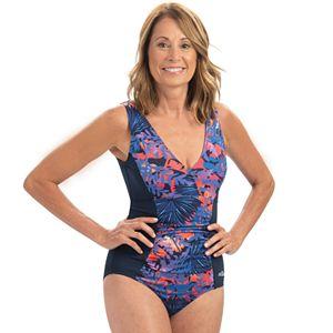 9ff5185650e Women's Dolfin Aquashape Athletic V-Neck One-Piece Swimsuit