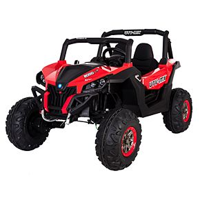 Blazin' Wheels Red Wild Cross UTV 12V Two-Seater Ride-On