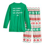 "Boys 4-20 Jammies For Your Families ""We Jingled"" Top & Bottoms Pajama Set"