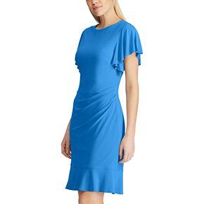 Women's Chaps Flutter-Sleeve Sheath Dress