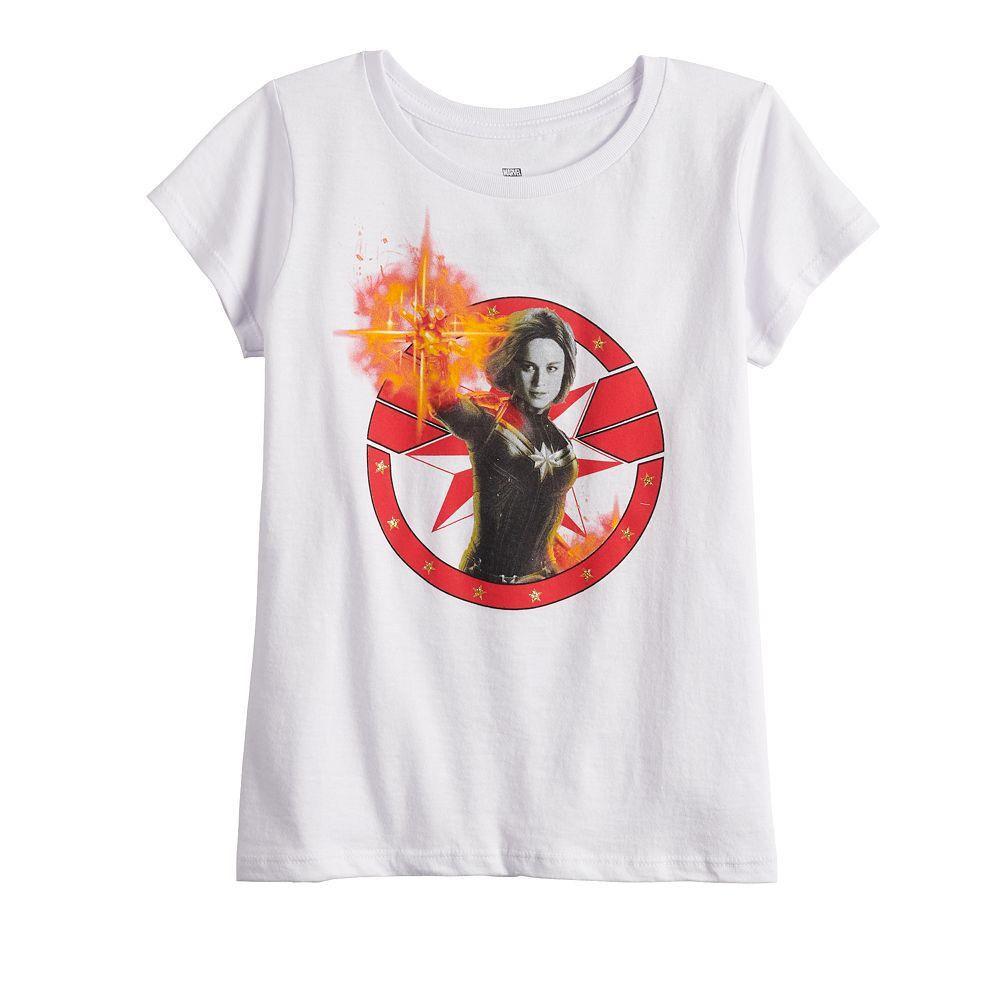 Girls 7-16 Captain Marvel Power Tee