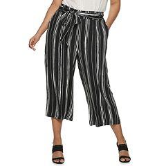 18e52ccff9 Juniors  Plus Size Candie s® Wide-Leg Crop Pants