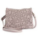 T-Shirt & Jeans Perforated Fold-Over Crossbody Bag