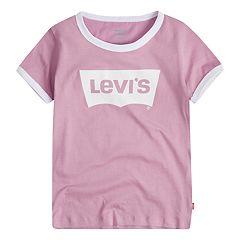 Girls Levi's® 4-6x Batwing Logo Ringer Tee