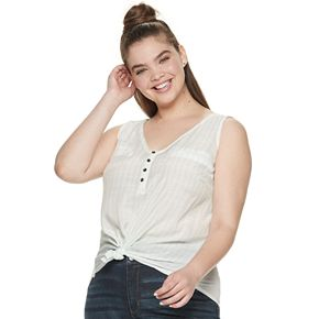 Juniors' Plus Size Candie's® Ruched Front Tank Top