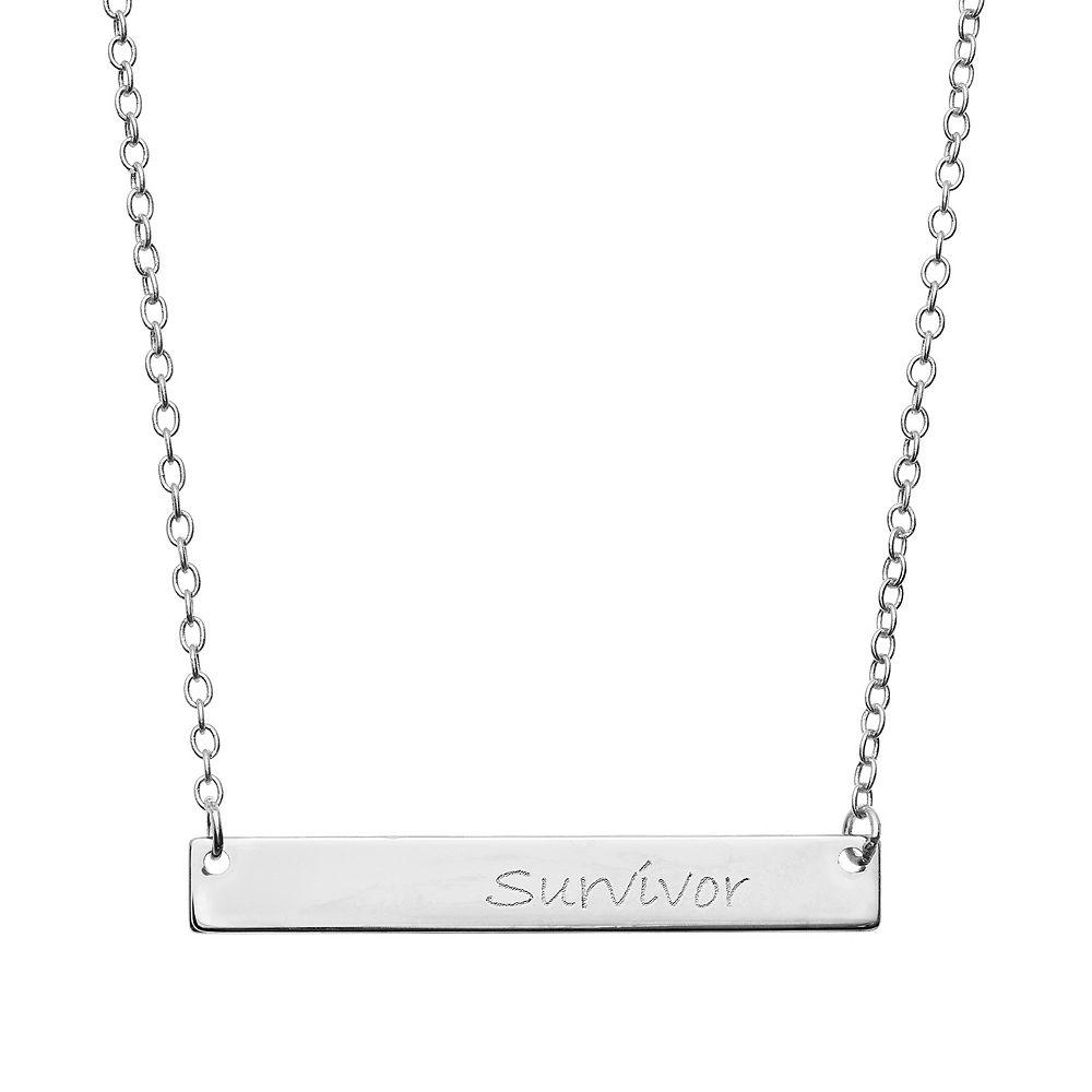 """""""Survivor"""" Bar Necklace"""