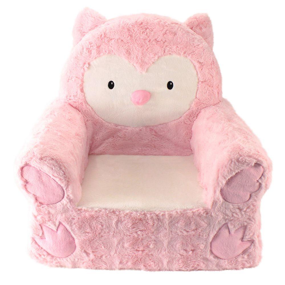 Animal Adventure Sweet Seat Pink Owl Chair
