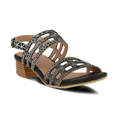 L'Artiste By Spring Step Women's Leather Slingback Anesa Sandals