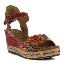 L'Artiste By Spring Step Women's Annmarie Wedge Sandals