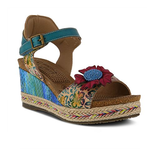 7f7f895633 L'Artiste By Spring Step Women's Annmarie Wedge Sandals
