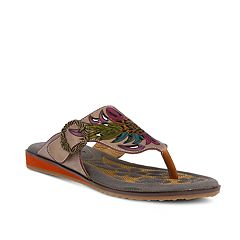 L'Artiste By Spring Step Women's Poetic Leather Thong Sandals