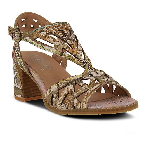 L'Artiste By Spring Step Women's Calpie Leather Sandals