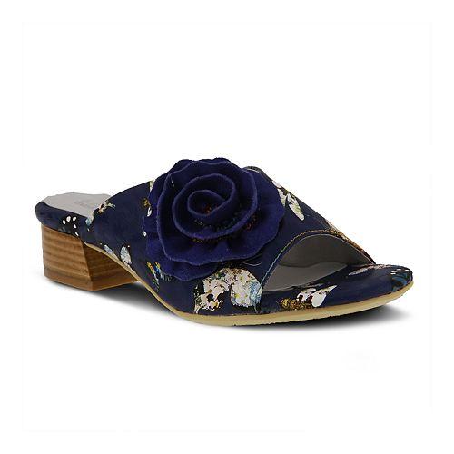 L'Artiste By Spring Step Women's Isittora Floral Slide Sandals