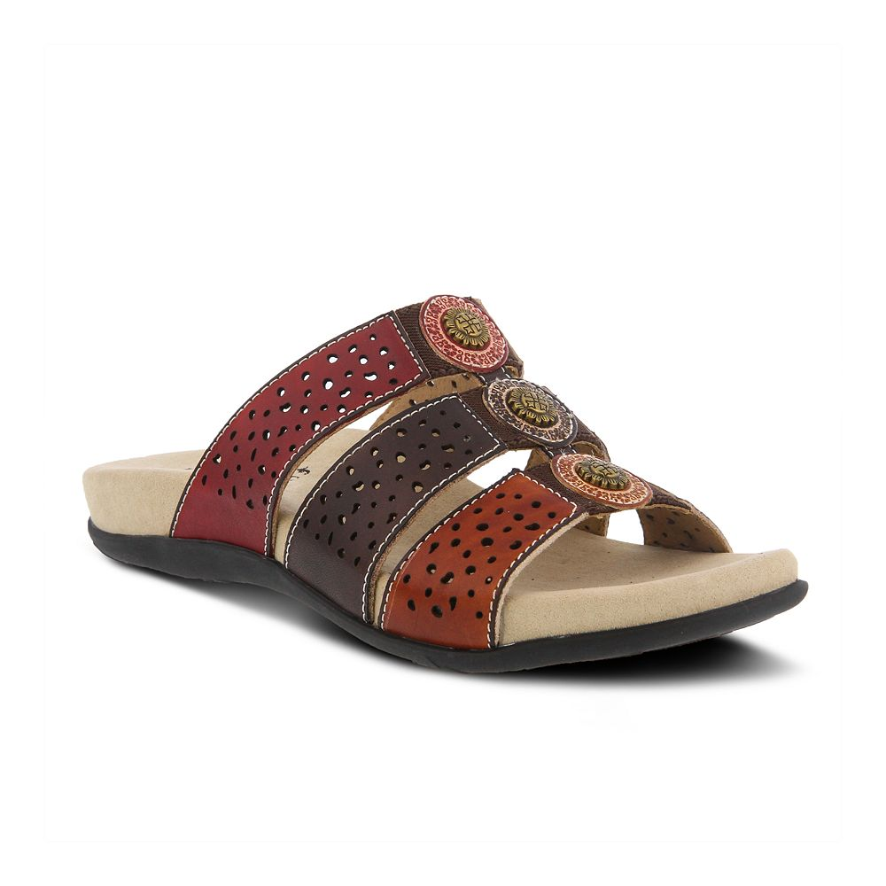 L'Artiste By Spring Step Women's Glennie Leather Slide Sandals