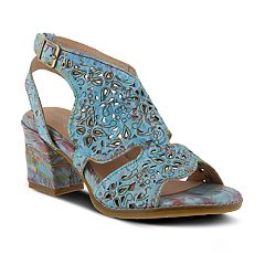L'Artiste By Spring Step Women's Giti Leather Strap Sandals