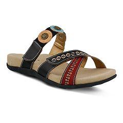 Womens L'Artiste By Spring Step Glendora Leather Slide Sandals