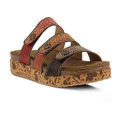 Womens L'Artiste By Spring Step Keena Leather Slide Sandals